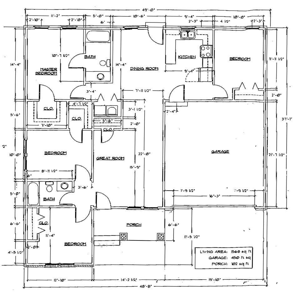 Standard house dimensions design for Standard house plans